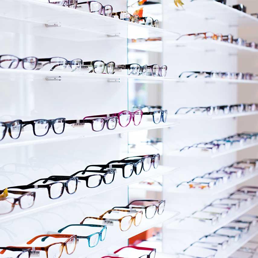 We carry a range of major brand eyewear
